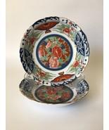 Gump's Japanese Imari Kiku Scallop Edge Round Porcelain Soup Bowls - 01  - $46.28