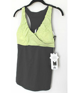KYODAN Sport ATHLETIC Run TOP Slimming SHIRT Darl Lime SLATE Yoga M Free... - $79.97