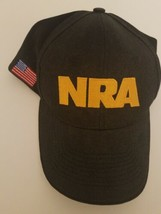 NRA Black Hat Cotton Ball Cap Adjustable Size Gun Owner National Rifle - $15.52