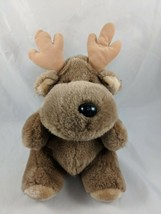 "Enesco Deer Elk Moose Plush Brown 12"" Korea Stuffed Animal - $22.60"