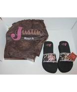 Justin Boots Ladies Sandals Flip Flops Size 5 Beads Western Animal Print... - $35.99