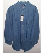 Mens NWT Denim Blue Long Sleeve Shirt Size 17 and half - $10.95