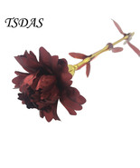 24K Gold Plated Carnation Flower Best Mother Day Gift With Beautiful Box - $11.70