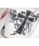 Womens Decorative Inspirational Zebra Print Cross Rhinestone Cotton Colo... - $14.95