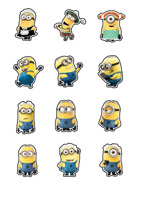 Clever image inside minion printable cutouts
