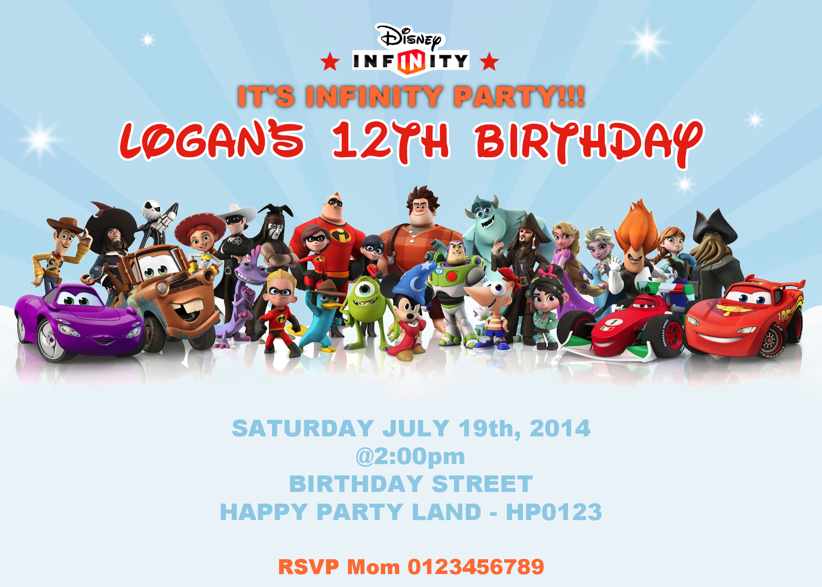 Disney Infinity Birthday Invitation and 50 similar items – Disney Photo Birthday Invitations