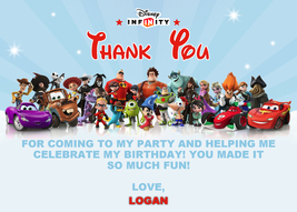 Disney Infinity Thank You Card - Infinity Card - Disney Infinity Thank Y... - $5.00
