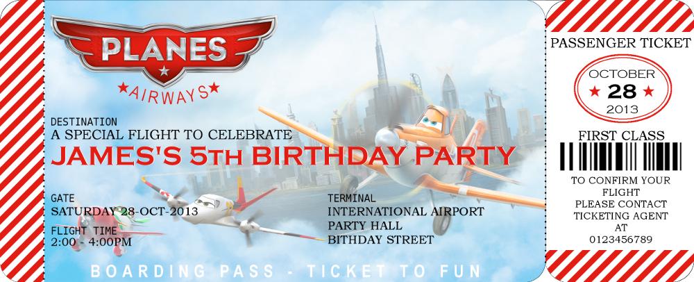 disney planes boarding pass invitation and similar items