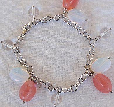 . red quartz bracelet