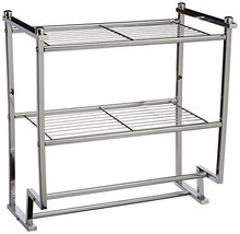Organize It All Chrome 2 Tier Wall Mounting Bathroom Rack with Towel Bars - $37.16