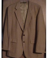 Vintage 1960's ~ 100% Mongolian Camel Hair Coat Tyler Hall 38 NOS - $55.00
