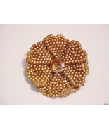 ANTIQUE FLOWER PIN BROOCH ART NOVEAU DECO HTF R... - $9.99