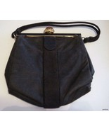 Vintage Black Fabric Koret Handbag Black & Gold... - $22.75