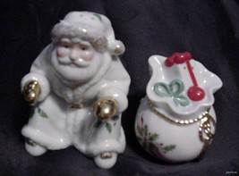 LENOX Holiday Santa & Toys SALT & PEPPER SET NIB - $12.95
