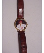 PICTURE LADIES WATCH 18K GOLD PLATED - $21.95