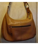 SERETA HoBo BROWN LEATHER PLEATED SHOULDER SATC... - $39.95