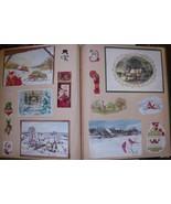 Vintage Scrapbook~Christmas Card Album Cut-outs... - $29.95