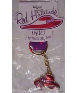 Red Hattitude Keychain Red Hat layered in 18KT ... - $16.99