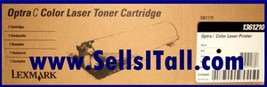 Brand NEW Genuine Lexmark 1361210 Black Toner Cartridge - $20.95