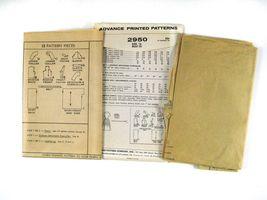 Vintage 60s Advance 2950 Misses Shirtwaist Dress Short Sleeve V-Neck 16/36 image 5