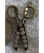Scissors Charm with Rhinestone Accents    - $8.49