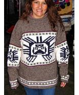 Gray Sweater, large Inka symbol, Alpacawool  - $85.00