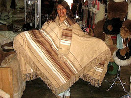 Brown Poncho, Cape made of Alpaca Wool, outerwear - $125.00
