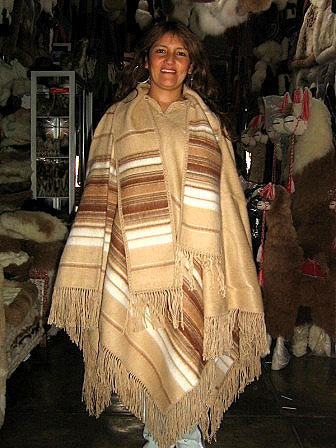 Brown Poncho, Cape made of Alpaca Wool, outerwear