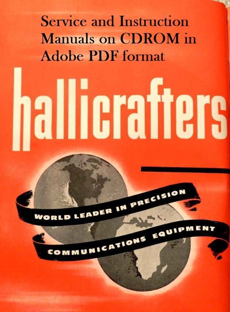 Hallicrafters Service and Instruction Manuals on CDROM