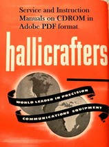 Hallicrafters Service and Instruction Manuals on CDROM - $11.99