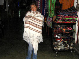White poncho,cape made of alpaca wool, outerwear  - $148.00