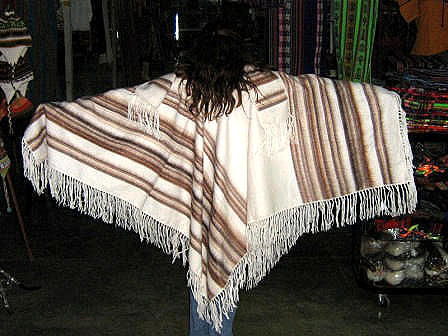 White poncho,cape made of alpaca wool, outerwear