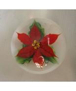 Daniel Salazar for Lundberg Studio Glass Paperweight Rare Poinsettia Sgd... - $345.51