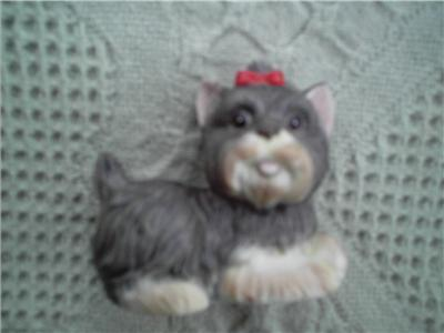 Homco #1474 Figurine Yorkshire Terrier Yorkie Dog 3inx3in