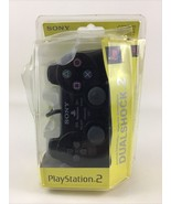 Sony PS2 Dual Shock 2 analog controller playstation 2 Black Noir PS2 SCP... - $78.37