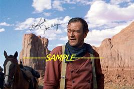 JOHN WAYNE Monument Valley photo 4X6 hand signed autographed reprint  - $2.99