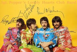 The Beatles set of 2 photos 4X6 hand signed autographed reprint Sgt Pepp... - $3.99