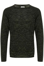 BLEND Men or Boy's Cotton Mix Sweater with Crew Neck in Black, Blue and ... - $21.98