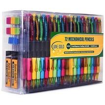 June Gold 72 Mechanical Pencils, 0.9 mm HB #2 Lead, 2 Lead Dispensers/w ... - $26.32