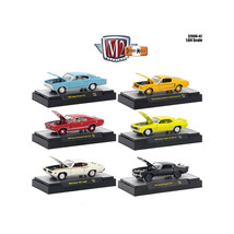 Detroit Muscle 6 Cars Set Release 42 IN DISPLAY CASES 1/64 Diecast Model... - $53.16