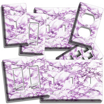 Purple Marble Look Light Switch Outlet Wall Plate Room Kitchen Bathroom Hd Decor - $9.99+