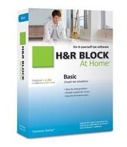 H&R Block At Home 2010 Basic Federal + E File [Cd Rom] [Cd Rom] Pc/Mac - $12.86