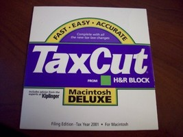 TaxCut from H&R Block 2001 Deluxe Filing Edition [CD-ROM] [CD-ROM] - $34.63