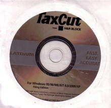 TaxCut Platinum From H&R Block: Fast, Easy, Accurate: Filing Edition [CD... - $46.42