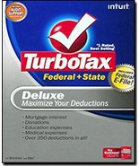 Intuit, Inc. TurboTax 2008 Deluxe Federal + State + eFile [OLD VERSION] ... - $19.79