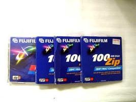Lot of 4 Fujifilm 100mb Zip Disk - $23.75