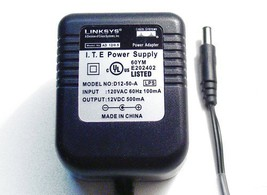 AC-DC ADAPTER 12VOLTS DC @ 500mA 2.1mm DC POWER PLUG POSITIVE CENTER - $4.90