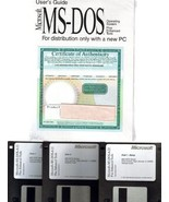 "Microsoft MS-DOS 6.22 Operating System on 3.5"" Floppy Disc & User's Guide - $69.29"