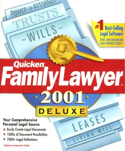 Primary image for Quicken Family Lawyer 2001 Deluxe [CD] [CD-ROM]