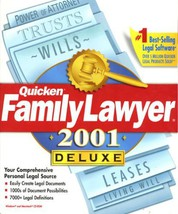 Quicken Family Lawyer 2001 Deluxe [CD] [CD-ROM] - $18.71